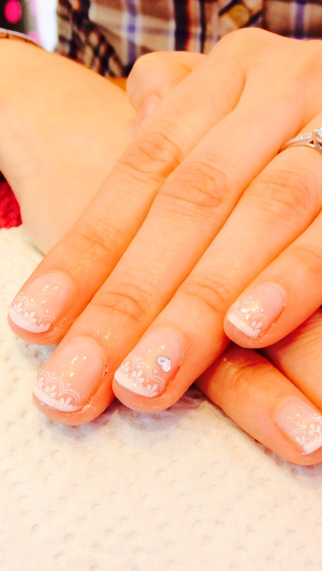Wedding nails by Kelli Waldock
