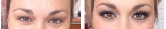 Before and After Lashes