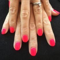 Pink nails