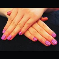 Nails with a sparkle