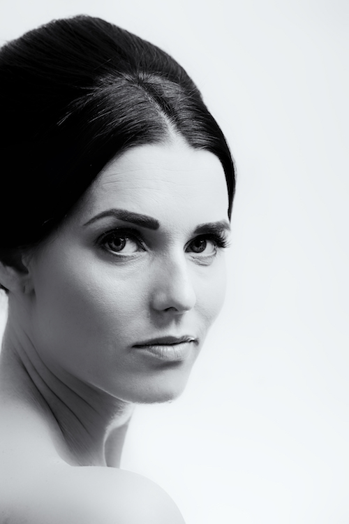 black and white audrey hepburn portrait by ryan cox makeup kelli waldock copy