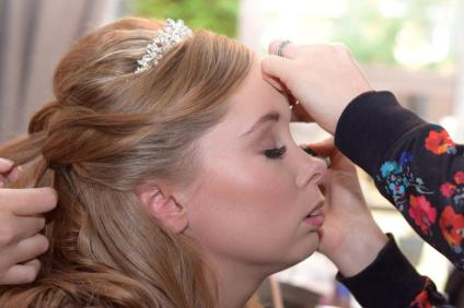 bridal make up lashes kelli walldock